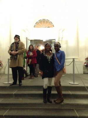 Exciting Moment As 2 Chibok Girls Who Escaped Boko Haram Den, Visit Whitehouse