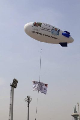 <p>Police Unveil Helium Blimp For <strong>#ChangeBeginsWithMe</strong> & Bail Is Free Campaign</p>