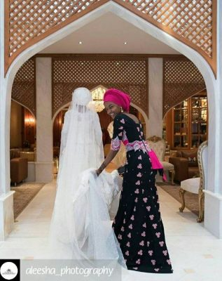 <p>Beautiful New Photos Of Hanan And Halima Buhari At Zahra's Wedding</p>