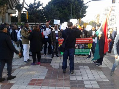<p><strong>Biafra</strong> Supporters Protest In Spain Over Nnamdi Kanu's Detention [PHOTOS]</p>