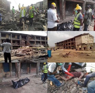 <p>2 Dead, Many Trapped As Building Collapses At Lagos Police College</p>