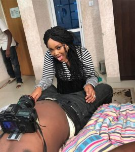 Mercy Aigbe Gets Naughty On Set, Fans Lash Out On Her