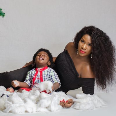 Stephanie Okereke-Linus & Cute Son Cover Motherhood In-Style Magazine