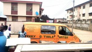 Terry G Visits His Water Business Customers, Gives Them 10K Bags Of Sachet Water