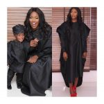 Tiwa Savage And Son, Jamil Twinning In Agbada Outfits