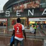 Comedian AY Pictured At Emirate Stadium