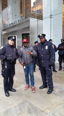 <p>Pro-Biafrans Flaunt Their Flag At Trump Tower In New York</p>