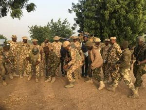 Soldiers In High Spirits After Recapture Of Boko Haram Enclave In Sambisa [PHOTOS]