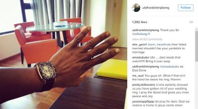 <p>Ubi Franklin Finally Gives Up, Removes Wedding Ring</p>