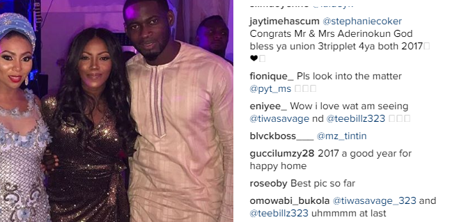 <p>For The First Time, <strong>TeeBillz & Tiwa Savage</strong> Pictured Together After Infamous Breakup</p>