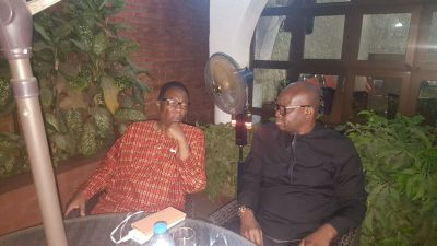 Photos As Fayose Meets With Gbenga Daniels, Jerry Gana And Agbaje