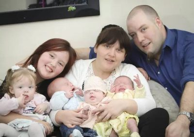 WONDERFUL! Meet Woman Who Gave Birth To 4 Babies In 11 Months (1 Triplet & 1 Single)