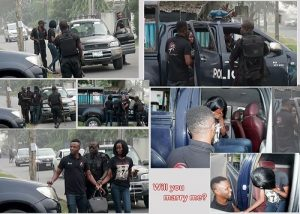INTERESTING! Man Proposes To His Girlfriend On The Road With The Help Of The Nigerian Police