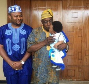 Obasanjo Spotted With Tonto Dikeh's Husband And 'Grandson'