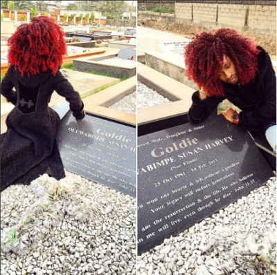 Denrele Edun Pens Down Emotional Poem To Goldie As He Visits Her Grave After 4 Years