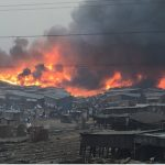 BREAKING: Heavy Fire Outbreak In Makoko, Lagos