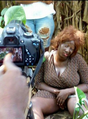 This Photo Of Nollywood Actress, Victoria Bukola On Set Got People Talking