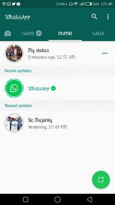"Whatsapp Introduces New ""Status Update"" Feature"