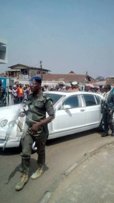 How Ooni Of Ife Caused A Stir With His Exotic Car At His Visit To Osun State