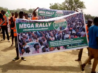 PHOTOS: Mega Rally Held In Abuja In Support Of President Buhari's Administration