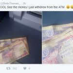 "[PICTURED]: ""Buhari Free Nnamdi Kanu"" Written On Naira Notes Dispensed By ATM"
