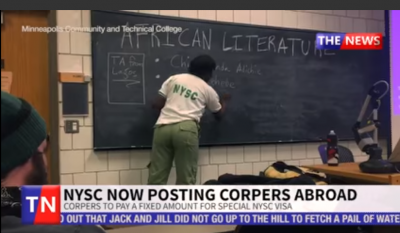 NYSC: Corpers Can Now Serve Abroad Says DG