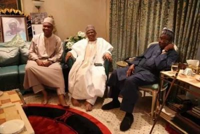 Dino Melaye Sits On Floor During Visit To IBB