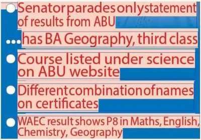 ABU Refutes Dino Melaye's Certificate, Says It's Fake But The Senator Might Be Right