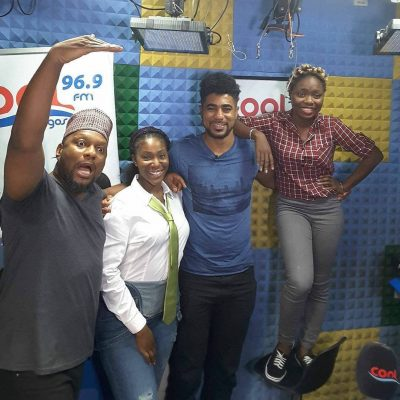 Thin Tall Tony's Height Amazes Cool FM OAPs [PHOTOS]