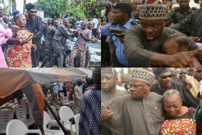 Amosun Saves Aregbesola's Ex-aide From Being Lynched At Adeleke's Funeral [PHOTOS]