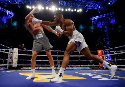Watch Video As Anthony Joshua Knocks Out Wladimir Klitschko In The 11th Round