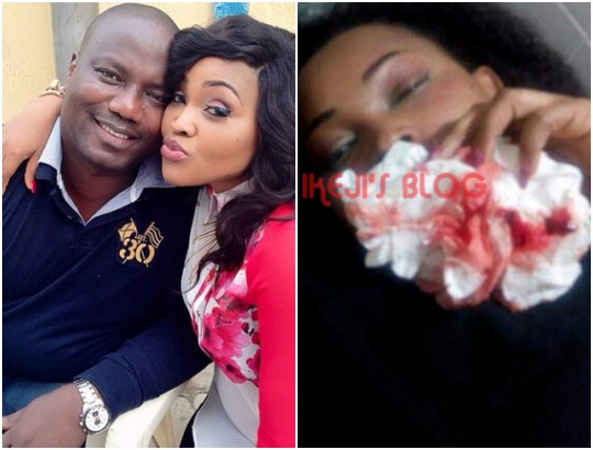 Mercy Aigbe's Hubby Denies Domestic Abuse, Says Photos Are From 'Victim' Movie