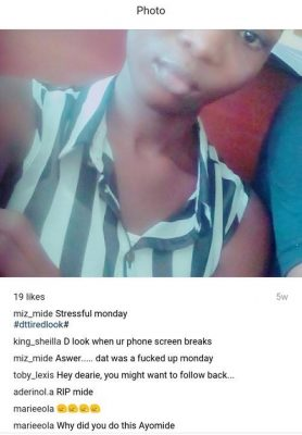 100 Level UNILAG Student Commits Suicide After Being Disgraced By Roommates