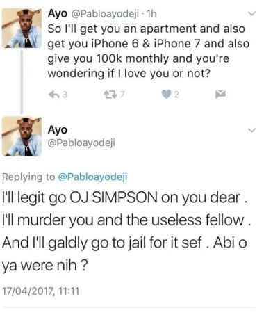 Pablo Ayodeji Threatens To Murder Any Woman Who Doesn't Reciprocate His Love