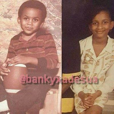 Wawu! See This Throwback Of Banky W And Adesua Etomi As Kids