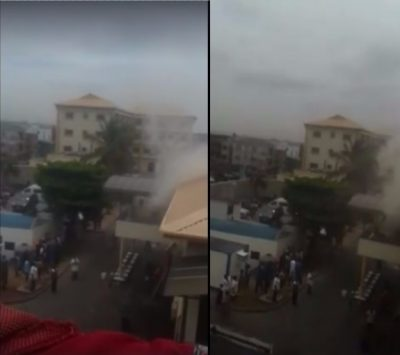 After Snubbing Ooni Of Ife, Oba Of Lagos Palace Gut Fire [See Video]