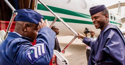 Acting President, Osinbajo Takes Off To Italy For G7 Summit