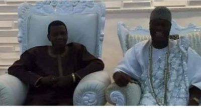 The Moment Pastor Adeboye Sits On The Highest Stool Of Ooni Of Ife