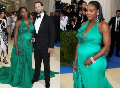 Awww! Serena Williams Steps Out Fully Revealing Baby Bump At Met Gala