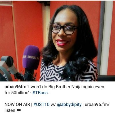 'I Won't Do Big Brother Naija Again, Not Even For N50 Billion' - Tboss