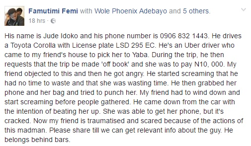 Uber Driver Destroys Female Passenger's Phone, Attempts To Assault Her