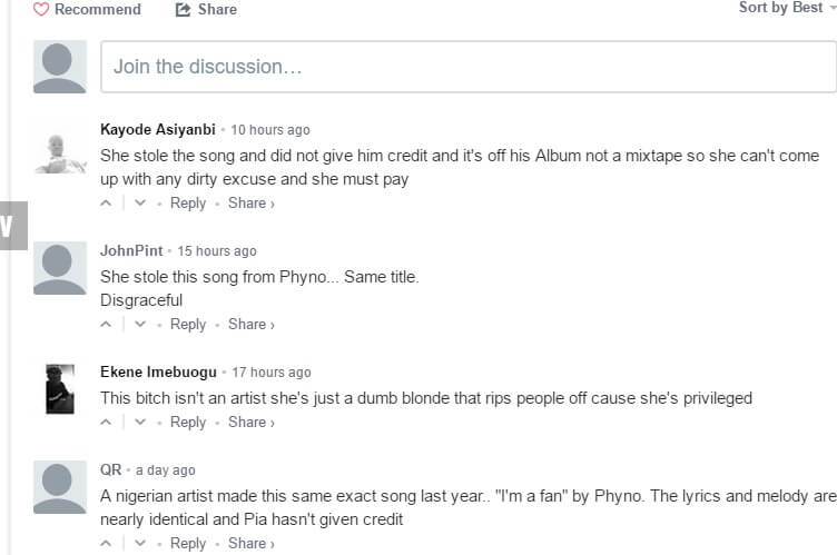 American Singers, Mia Pia & Jeremih Steal Phyno's Song; Nigerians Rage
