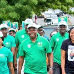 Governor Amosun Leads Democracy Walk To MKO Abiola's House