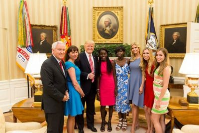 President Trump And Wife Host Two Chibok Girls In Whitehouse