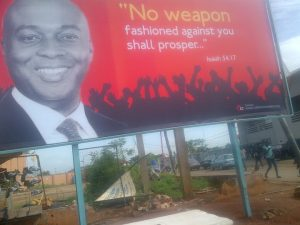 Disturbing As Church In Ilorin Uses Saraki's Picture For Billboard