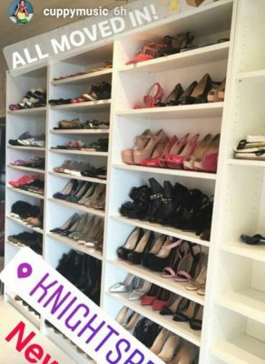 DJ Cuppy Shows Off Her Exotic Shoe Closet In New Crib