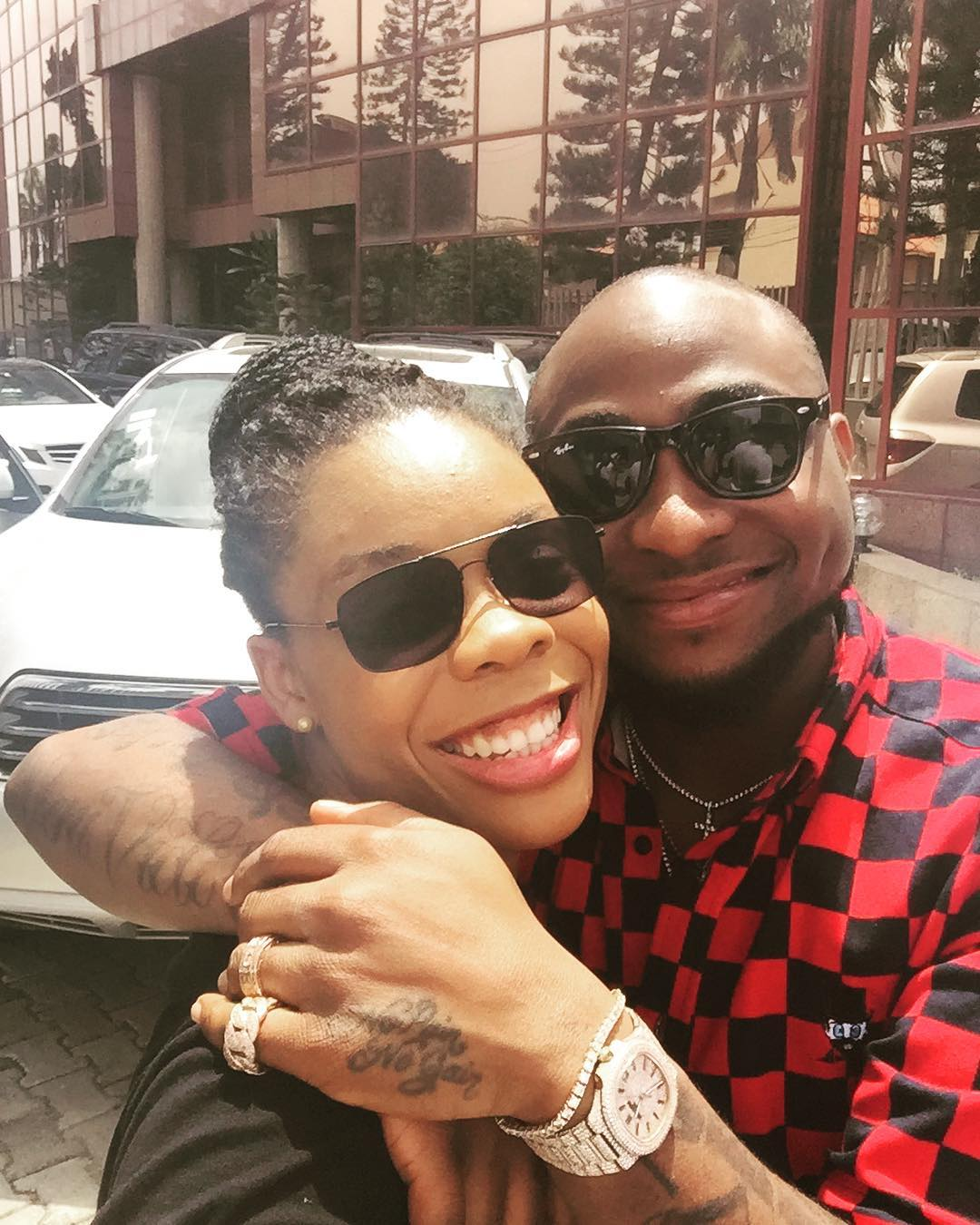 Davido And Dance Queen, Kaffy All Smiles As They Squash Beef