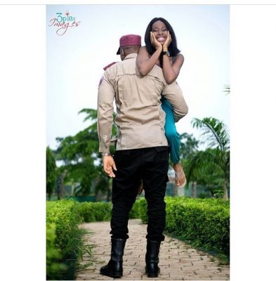 FRSC Officer And Fiancée Got People Talking With Their Pre-wedding Photos