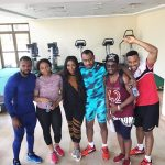 Kemen Hangs With Ini Edo, Vincent Enyeama After Gym Session