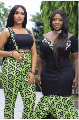 Coke & Fanta: Mercy Johnson And Juliet Ibrahim Slay In Coordinated Outfits